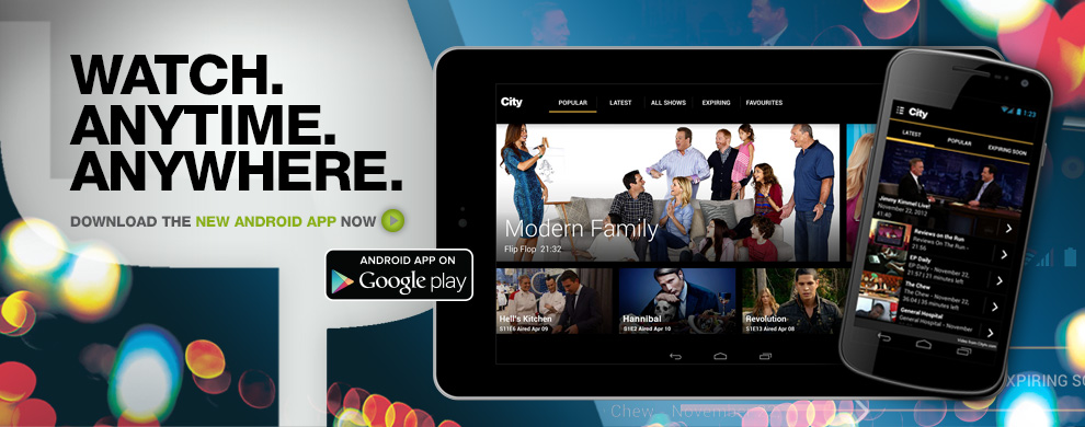 Get the Citytv Android Mobile App for phone and tablet